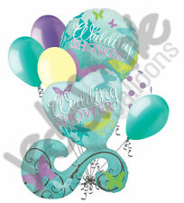 7 pc Butterfly Wedding Shower Balloon Bouquet Party Decoration Bridal Engagement