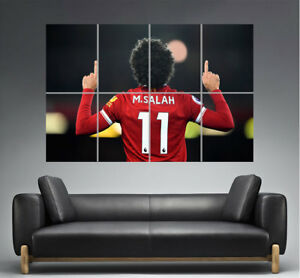 Mohamed Salah Number 11 Liverpool Football Player Poster Great Format A0