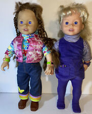 """Vintage Playmates 1999 Amazing Ally & Maddie!Vinyl 18"""" Doll. Not Tested"""