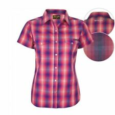 Regular Size 100% Cotton Checked Tops & Blouses for Women