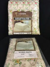 Vtg NOS 60's-70's Cannon Full Bedspread & Curtain Drapes Set Never Opened!