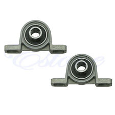 2X Zinc Alloy 10mm Diameter Bore Ball Bearing Pillow Block Mounted Support KP000