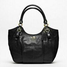Coach Madison Abigail 18612 Black Leather Shoulder Bag Purse