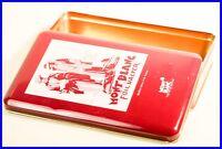 MONTBLANC Sammler Blechdose Reisende mit Füllhalter / 1920ies design TIN BOX