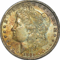 1885-O $1 Morgan Silver Dollar - High-Grade - Original Teal Toning - SKU-D1237