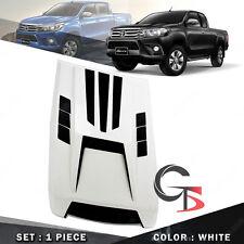 Fits Toyota Hilux Revo 15 2016 17 Bonnet Hood Scoop Cover White Matte Black V2