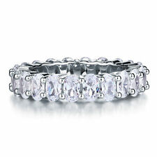 LUXURIOUS NSCD Simulated 5 Carat OVAL Cut Diamond Ring Engagement Wedding
