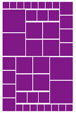42 PURPLE SQUARE VINYL WALL DECALS STICKER GIRLS BEDROOM Teen Baby Nursery Dorm