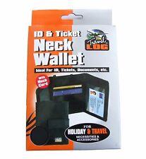 Travel Neck Wallet - Passport Money Tickets Pouch Travelog