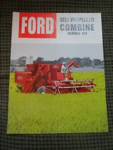 Original Brochure for the Ford Series 611 Self-Propelled Combine, Very Nice!