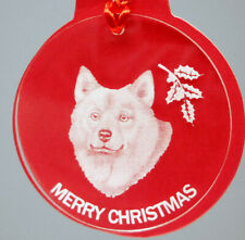 Finnish Spitz Dog Ornament, Lucite,