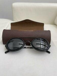 MATSUDA- Brand New - 2871H Round Sunglass, Matte Black with Silver Mirror Lenses
