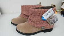 MUK LUKS  Women's Moccasin Cable Knit Tan Paattrice Sweater Cuff Boot Size 9 NEW