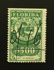 Florida State Revenue - Documentary Tax #D110 - $5.00 - green - used - FL