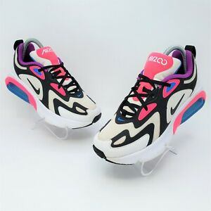 Nike Air Max 200 GS Girls White/Black/Pink Athletic Shoes Size 5.5Y AT5630-100