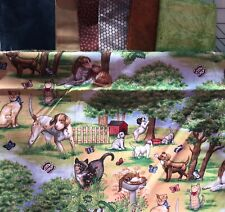 New listing Yellow Brick Road Quilt Kit w/Dogs & Cats Crib Size