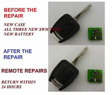 Vauxhall Vectra  3 button Remote Alarm Key Fob Repair Service We Fix Your Remote