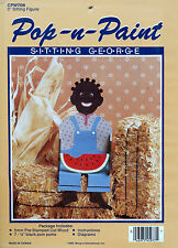 "Pop N Paint Sitting George 5"" Sitting Figure - Picaninny Doll - New Sealed Kit"