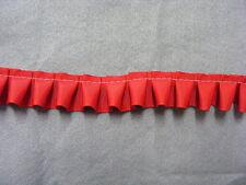 Box Pleated Red Grosgrain Ribbon x 5 mts