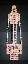 "36""  PEACH COLORED BUBBLE SEA SHELL PLANT HANGER CHANDELIER, DECOR PLANT HANGER"