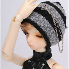 inch Chain Beanie Black/&Red Dollmore BJD MSD hat 7-8