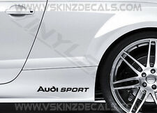2x AUDI Sport Premium Cast Gonna Decalcomanie Adesivi TT RS S-LINE A3 A4 A6 Quattro