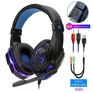 Professional Led Light Gamer Headphone for PS4 PC PS5 FIFA 21 Games Stereo Bass