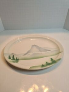 RAILROAD CHINA -GREAT NORTHERN - GLORY OF THE WEST PATTERN - OVAL  PLATE