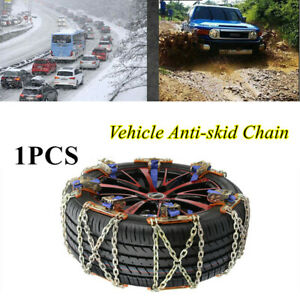1PCS Car Truck Wheel Tire Snow Anti-skid Chains SUV Emergency Winter Durable