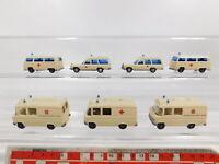 CG372-0,5# 7x Wiking H0/1:87 Krankenwagen: 70 MB/Mercedes + 320 VW etc, NEUW