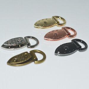 2Pcs Metal Leaf Shape Bag D-ring Connector Buckles for Handbags Leathercraft DIY