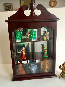 """Vtg Wall Cabinet Glass Door and Mirrors- Table top Cabinet 22""""x13.5""""x4"""""""
