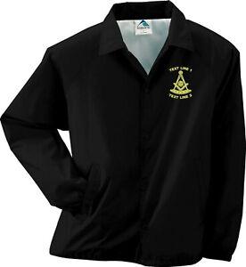 Past Master Masonic / Mason / Freemason Embroidered Coaches Jacket / Windbreaker