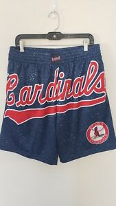 🔥🔥OFFICIAL ST LOUIS CARDINALS MLB MITCHELL & NESS SHORTS MENS LARGE⚾⚾