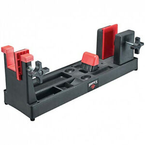 Hoppes Gun Vise Firearm Holder Dual Lock Cleaning Tool Compartment Gray