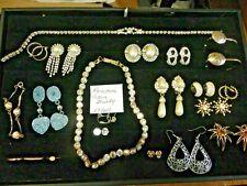 Vintage Rhinestone Retro Jewelry Lot Pearls Very NICE LOT wear or resale LOT