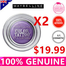 TWO MAYBELLINE Colour Tattoo Eye Shadow 4 g, 15 Endless Purple