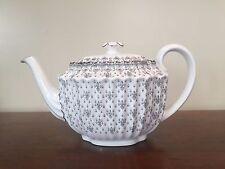Spode FLEUR DE LYS Grey Bone China 4-Cup Teapot ~ England