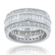6.00 ct Ladies Round And Baguette Cut Diamond Eternity Wedding Band In 18 kt
