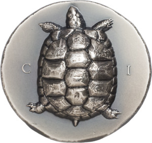 Cook Islands 2020 5$ - Antique Tortoise - 1 Oz Silver Antique Coin