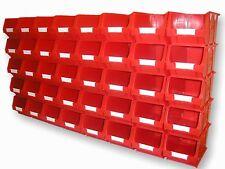 40 X NEW BARTON RED TC3 PLASTIC PARTS STORAGE BINS - SET B345F