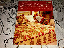 KIM DIEHL SIMPLE BLESSINGS 14 QUILTS TO GRACE YOUR HOME Quilt Patterns 2004 Book