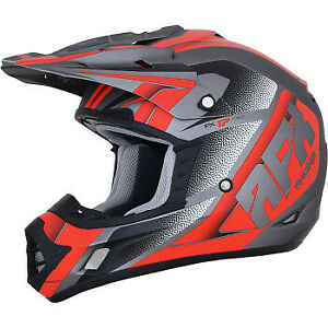 AFX FX-17 Helmet Force Frost Gray/Red All Sizes