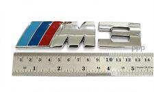 CHROME METAL 3D LOGO FOR BMW M3 320 325 E36 E46 CAR EMBLEM DECAL 3.2CM. X 13CM.