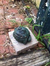 Vintage Plaster Cement Toad frog Garden Art