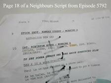 TV Show Neighbours Collectable memorabilia 1 page of a script Episode 5792