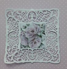 Die Cut Tattered Lace Romantique Lace Square Doily  Shabby Chic  Card Toppers