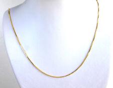 50cm 24K Gelbes Gold überzogener Weihnachten B ' d glänzend Box Halskette 1mm