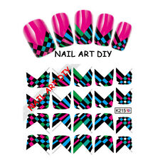 20 Nail art water transfers Stickers FRENCH adesivi unghie BUY 3 GET 4!