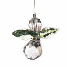 Verde Guardian Angel Swarovski Elements Colgante Cristal suncatcher & Bolsa De Regalo